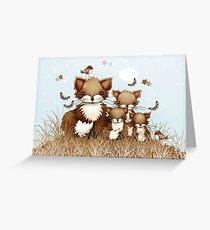 Kleine Füchse Grußkarte