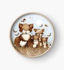 Little Foxes Clock