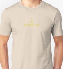labrador retriever y is for yellow lab Unisex T-Shirt