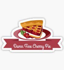Twin Peaks Cherry Pie Sticker