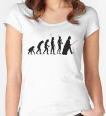 Dark side of Evolution Women's Fitted Scoop T-Shirt