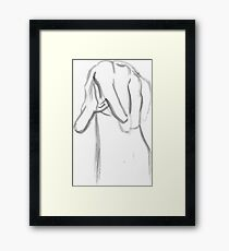 Hand - Ink Brush Framed Print