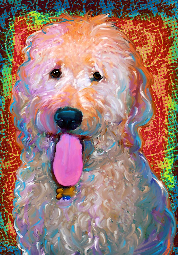 Fripp The Golden Doodle by artpaw