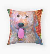 Fripp The Golden Doodle Throw Pillow