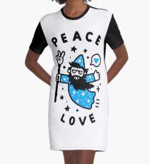 Coolest Wizard Graphic T-Shirt Dress