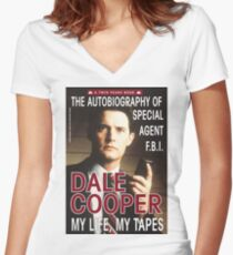 Twin Peaks Dale Cooper Book Women's Fitted V-Neck T-Shirt