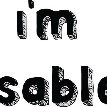Estoy discapacitado - Diseño solicitado de mlleruta