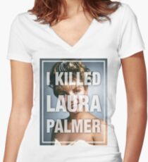 Twin Peaks I Killed Laura Palmer Photo Women's Fitted V-Neck T-Shirt