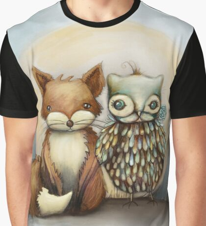 fox and owl Graphic T-Shirt
