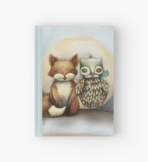 fox and owl Hardcover Journal