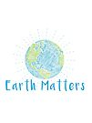 Earth Matters - Scribble Earth Art - Blue and Green by jitterfly