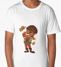 RED Demoman Long T-Shirt