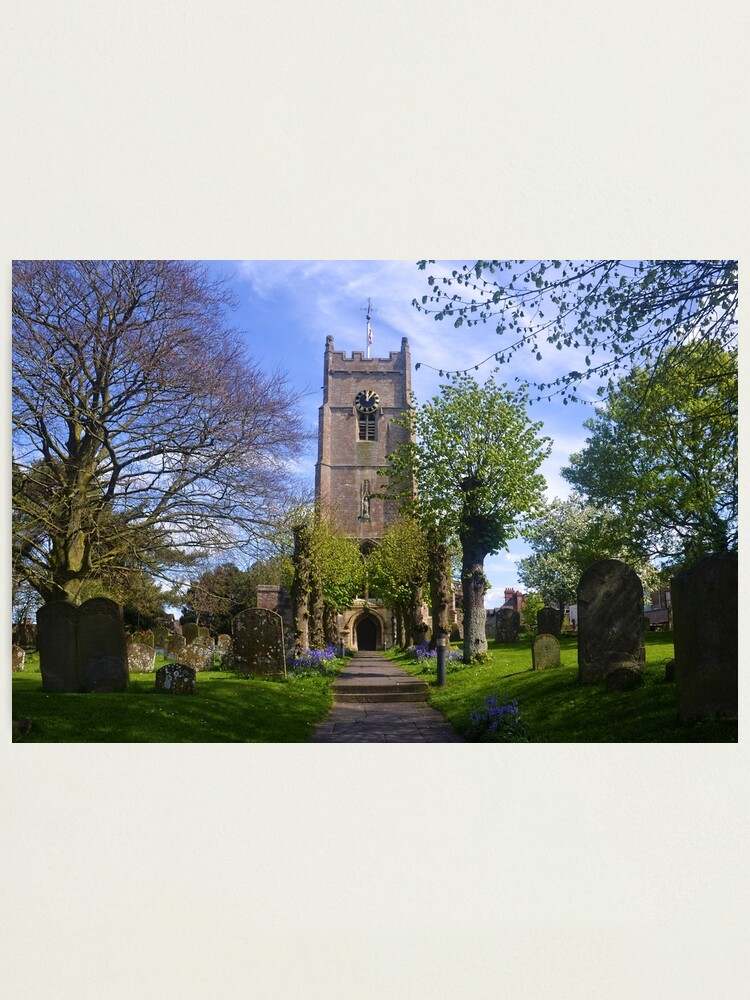 Alternate view of St Michael and All Angels, Highworth , Wiltshire uk Photographic Print