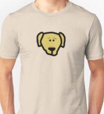 labrador retriever yellow cartoon head Unisex T-Shirt