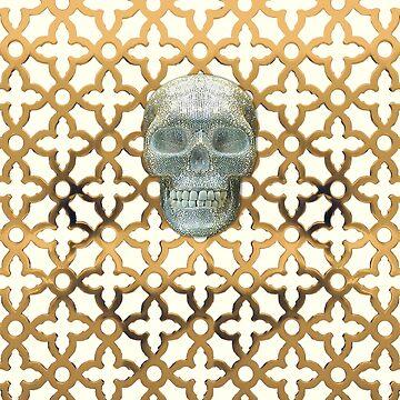 Alexander McQueen inspired bling skull t shirt  by closeddoor