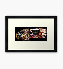 Short of the Police Making Impossible Puzzle. Framed Print