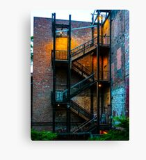 Old Sac Stairwell; Image By Rich AMeN Gill Canvas Print