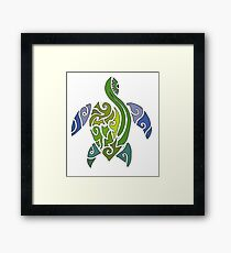Tribal Turtle Framed Print