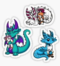 Dragons with Plushies Sticker Pack 3 Sticker