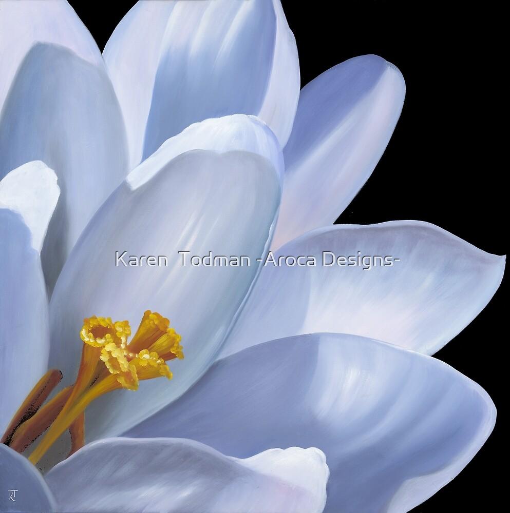 Moon Flower by Karen  Todman -Aroca Designs-