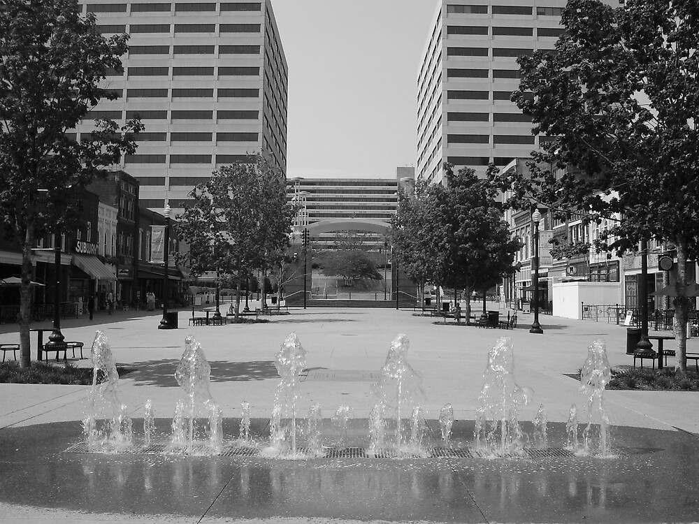 Market Square Knoxville Tennessee by Vince Thompson