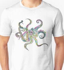 Ink Blot Octopus Unisex T-Shirt