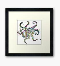Ink Blot Octopus Framed Print
