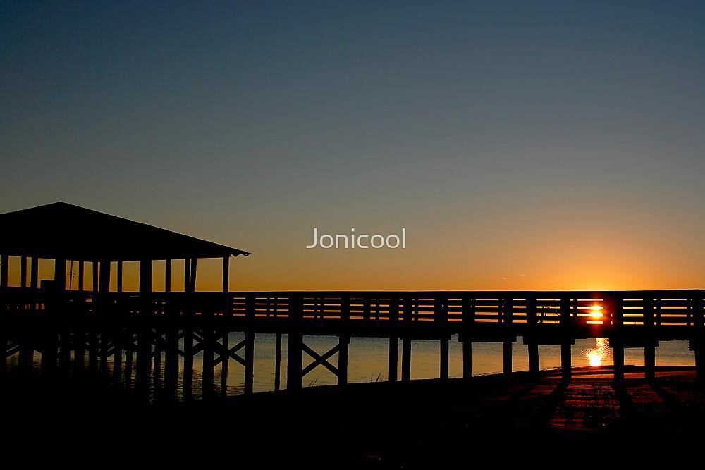 Biloxi Pier Sunset by Jonicool