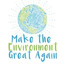 Make the Environment Great Again - Earth Scribble in blue and green by jitterfly