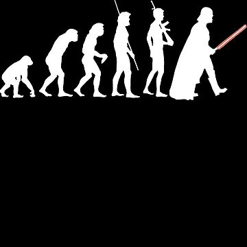 The Dark Side Of Evolution - White  by franko179