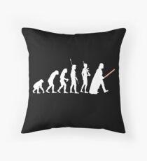 The Dark Side Of Evolution - White  Throw Pillow