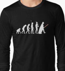 The Dark Side Of Evolution - White  Long Sleeve T-Shirt