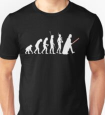 The Dark Side Of Evolution - White  Unisex T-Shirt