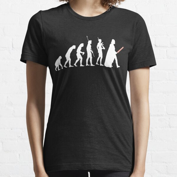 The Dark Side Of Evolution - White  Essential T-Shirt