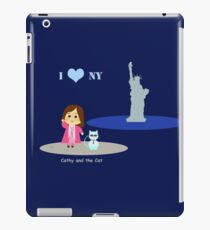 Cathy and the Cat in New York iPad Case/Skin