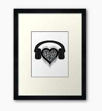 Love Music Rhythm Heart Beat Framed Print