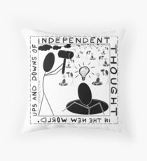 Ups and downs of independent thought Throw Pillow