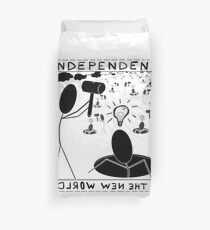 Ups and downs of independent thought Duvet Cover