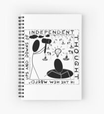 Ups and downs of independent thought Spiral Notebook