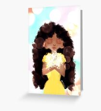 Curly Girl, Soft and Sweet Greeting Card