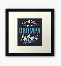 Crazy Grumpa Framed Print