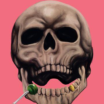 Skull by snakeshipsart