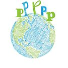 Ps on Earth - Peace on Earth Humor - Earth Scribble by jitterfly