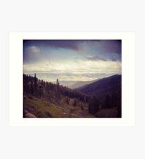 Mountains Forever - Montana Art Print