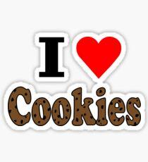 I Love Chocolate Chip Cookies Sticker