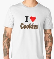 I Love Chocolate Chip Cookies Men's Premium T-Shirt