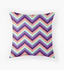Retro Zig Zag Chevron Pattern Throw Pillow