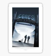 NASA JPL Space Tourism: Ceres Sticker