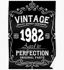 Vintage Quality 1982 Perfection Poster