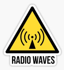 Radio waves hazard sign. Danger. Caution symbol. Sticker